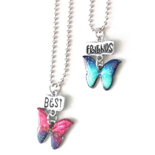 Jewelry Children Glitter Girl Colorful Best Friend Butterfly Necklace Baby