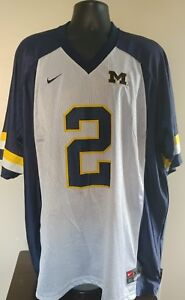 save off 7a609 8b56f Details about VINTAGE MICHIGAN WOLVERINES CHARLES WOODSON NIKE GO BLUE  FOOTBALL JERSEY MEN XXL