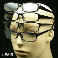 4 Pair Unisex Reading Glasses (Black)