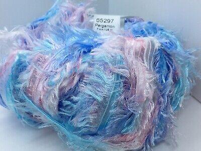 Skinny Fine Light Blue Ribbon Yarn 50 gr 103yd Soft! Ice 48844 Sky Shine