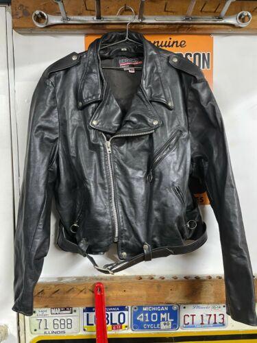 vtg Brooks leather Classic Motorcycle Jacket- sz 5