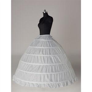6-HOOP-Wedding-Ball-Gown-crinoline-petticoat-skirt-slips-Underskirt