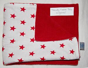 baby BLANKET cosatto WHITE BLACK STARS RED  crib pushchair pram moses cot