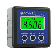 Neoteck 490 Digital Lcd Protractor Level Box Angle Finder Inclinometer Magnet