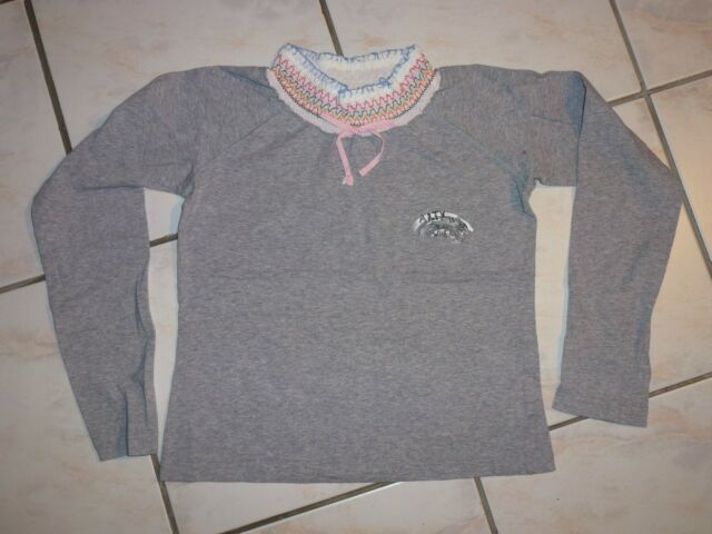 T-SHIRT ML GRIS OOXOO / MARESE, 12 ANS / 152 TBE