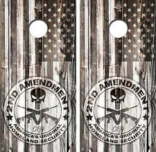 Second (2nd) Amendment 1789 Vintage Cornhole Board Skin Wrap FREE SQUEEGEE