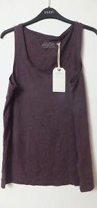 New Women's FatFace Sophie Purple Blackberry Vest Size 16