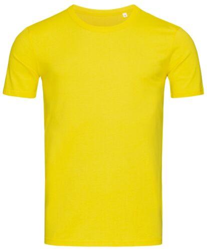 Hanes O Stedman Uomo Tinta Unita Sottile Aderente Fit-T Cotone T-Shirt Maglietta