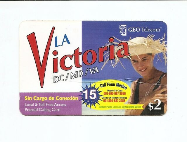 USA Phonecard LA VICTORIA GEO TELECOM - USED / NO AIRTIME
