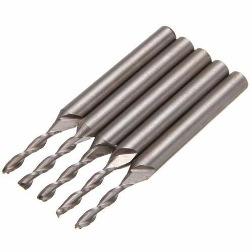 5Pcs 3mm Extra Long 3 Flute HSS Aluminium End Mill Cutter CNC Bit Extended Tool