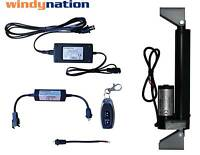 Windynation 12 Volt Linear Actuator + Power Supply + Remote Control + Brackets