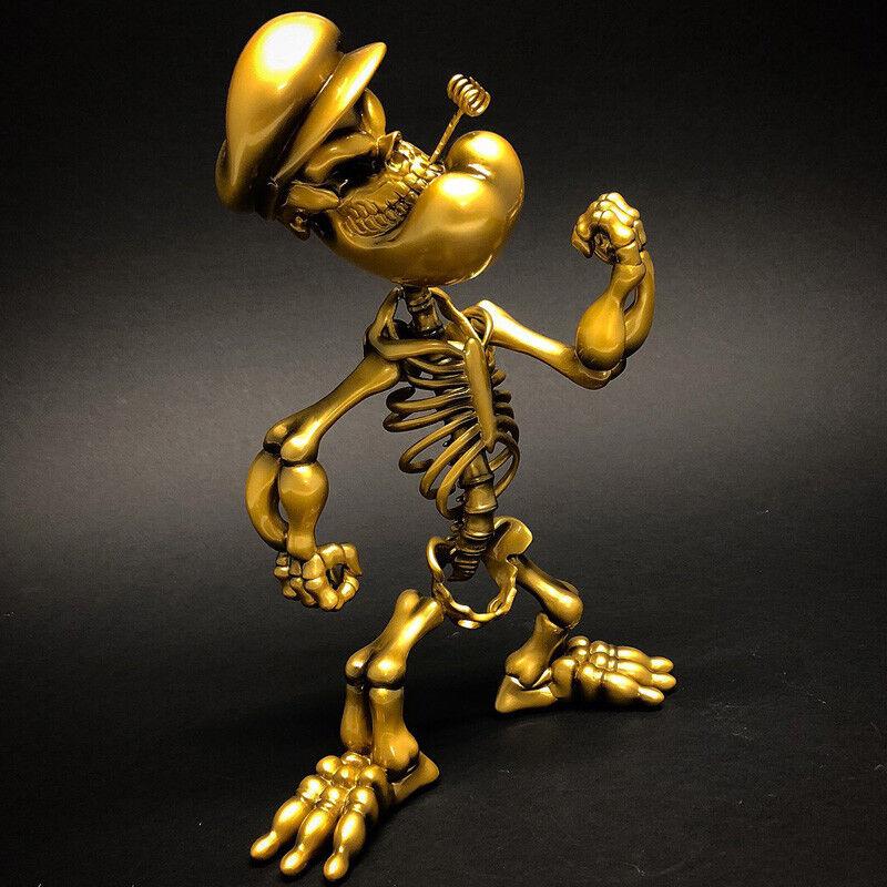 Popeye Grin Grin Grin by Ron inglese oro version Popagea giocattoloQube 10  Designer giocattolo nuovo 0d6a4f