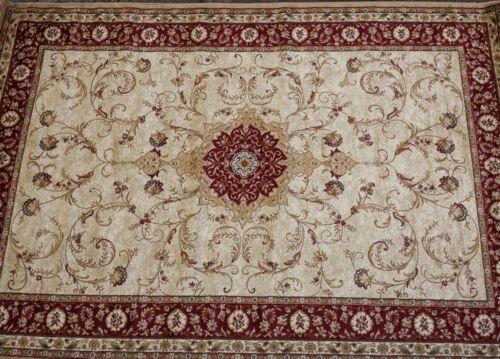"""Orientalischer Teppich Kurzflor Kollektion /""""Lotos/"""" 523//120 Rot Beige Ornamente."""