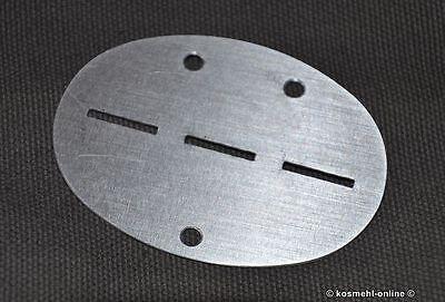Repro DogTag BLANCO ohne Prägung WWII WH WK2 Aluminium Erkennungsmarke