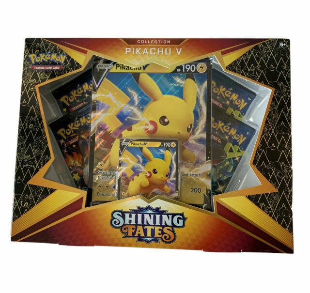 Pokemon TCG Shining Fates Pikachu V Collection Box New