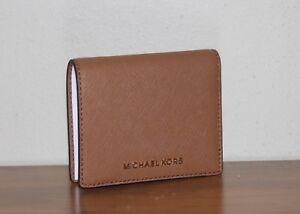 253cd8e3c451 Details about NWT Michael Michael Kors Jet Set Travel Leather Flap Card  Holder Wallet  68