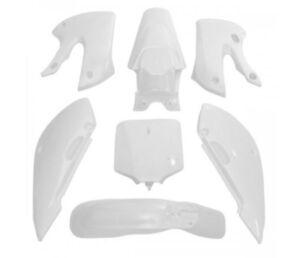 White 7PCS Fairing Kit Plastic Fender FOR Kawasaki KLX110 DRZ110 KX65 PS18