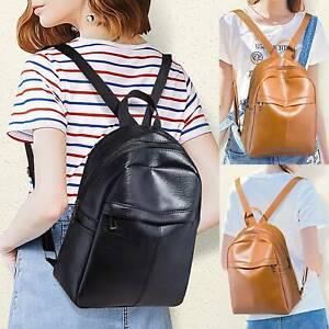 Damen-Schultertasche-Handtasche-PU-Kunstleder-Reisetasche-Schulrucksack-Rucksack