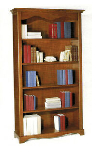 Libreria-a-giorno-mobile-classico-legno-massello-arte-povera-mobiletto-ufficio