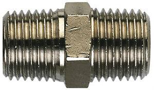 1/2 Bsp Mâle à 1/2 Bsp Mâle Pneumatique Air Eau Téton Plaqué Nickel Laiton