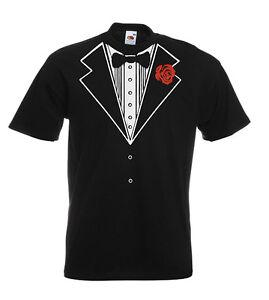 4dfe01552 Image is loading Tux-Tuxedo-Funny-Wedding-Fancy-Dress-Stag-T-