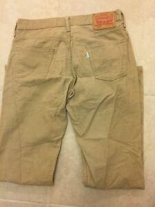 37565ee6 Levi's 514 Men's Corduroy Beige Tan Jeans Straight Leg 30 x 32 | eBay