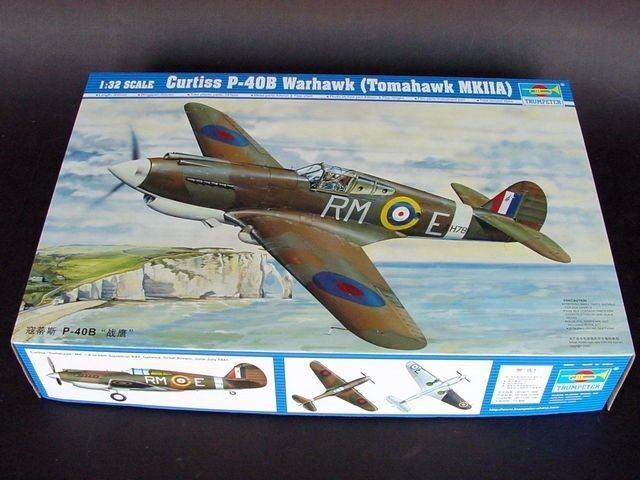 02228 trumpetare Curtiss P -408 Warhawk flygagagplan modelllllerler Airplan 1  32 skala