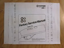 Crosman 766 Two (2) O-Ring Seal Kits + Factory Service Manual & Seal Guide