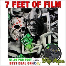 Hydrographic Film Skulls Jokers Wild 7 X 20 Hydro Dipping Dip Ape