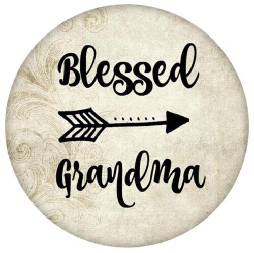 Brown Enamel Blessed Grandma Arrow 20mm Snap Charm For Ginger Snaps