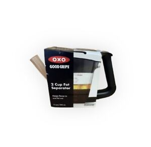 Oxo Good Grips 2 Cup Fat Separator With Measurement Easy Clean Prevents Spills