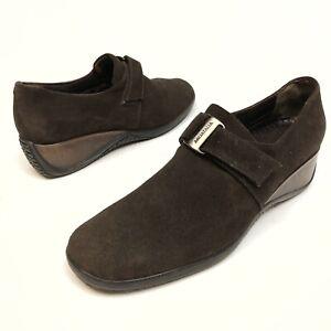 Aquatalia Women's Shoes Brown Suede