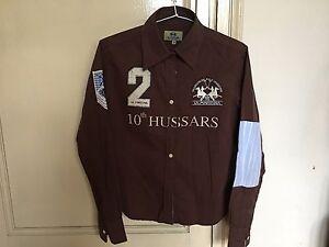 Shirt Brown 100 Camicia La Usato Colore Used Martina Cotton Marrone f1wdOfTqI
