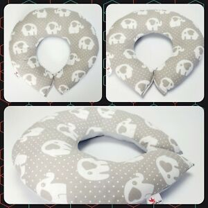 Breast feeding SMALL PILLOW 40cm nursing pillow Baby support grey stars on white