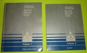 details about 1988 mitsubishi truck service repair manuals volume 1 \u0026 2 factory wiring diagram chevy 350 starter wiring diagram mitsubishi fuso wiring diagrams all
