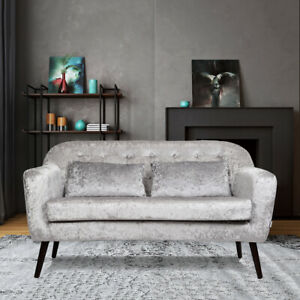 Awe Inspiring Details About Chesterfield Crush Velvet Silver 2 Seater Loveseat Sofa Settee Small Couch Chair Spiritservingveterans Wood Chair Design Ideas Spiritservingveteransorg