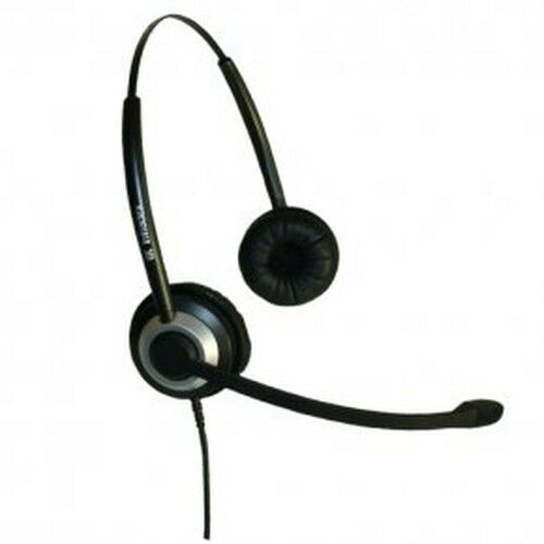 Imtradex BasicLine TB Headset binaural for Tiptel IP 286 Telephone, wired