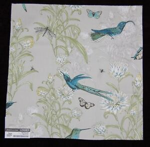 FABRIC-SAMPLE-SWATCH-Meadow-Taupe-100-Cotton-Birds-Nature-120-17-034-x17-034-Quilt