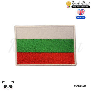 BULGARIA-National-Flag-Embroidered-Iron-On-Sew-On-Patch-Badge-For-Clothes-etc