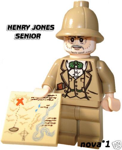 LEGO INDIANA JONES  DR HENRY JONES MINIFIGURE  BRAND NEW