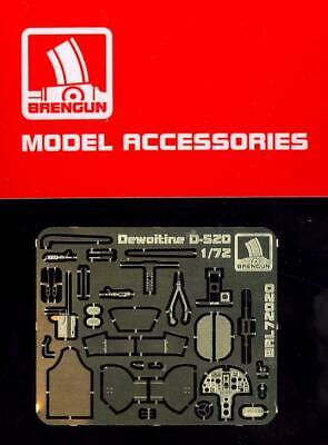 Brengun Models 1//72 DEWOITINE D.520 Fighter Photo Etch Update Set
