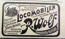 R. Wolf Lokomobilen Magdeburg-Buckau Reklame Inserat 03 Werbung Anzeige 1898