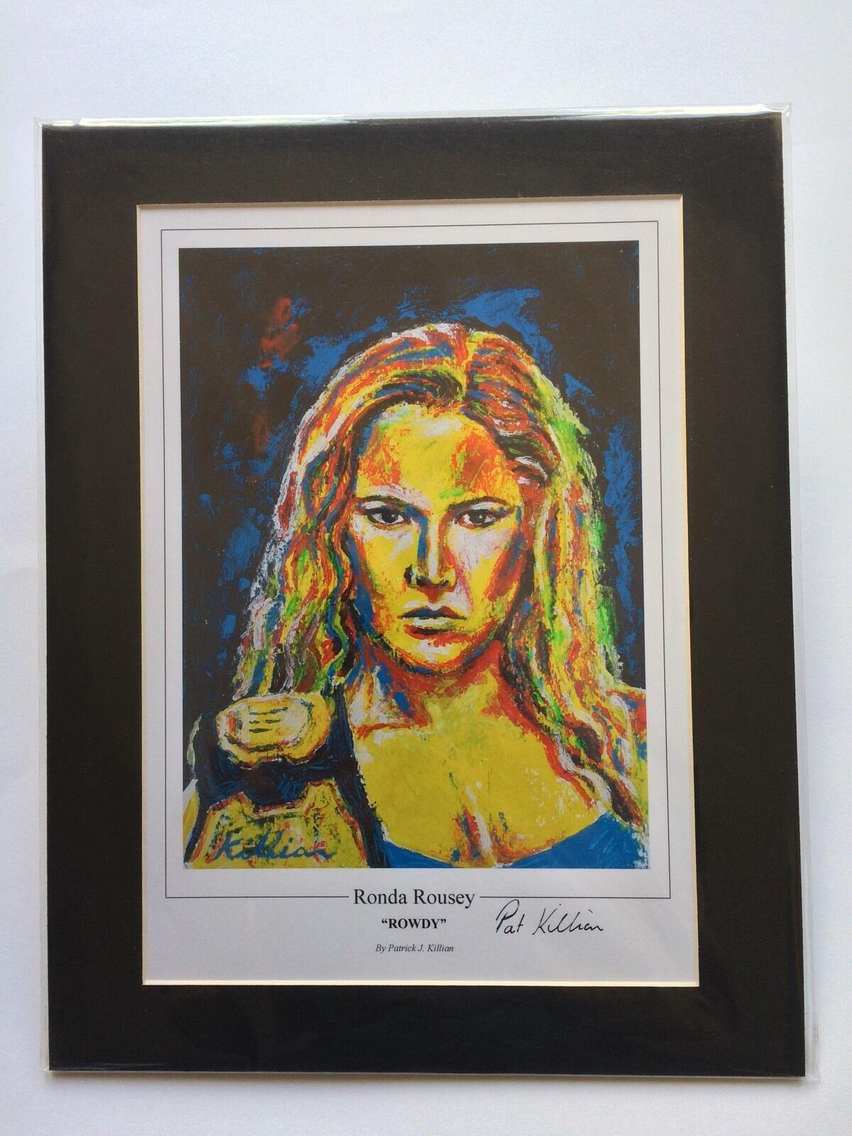 Ronda Rousey Contemporary Art Print por Patrick J. de Killian
