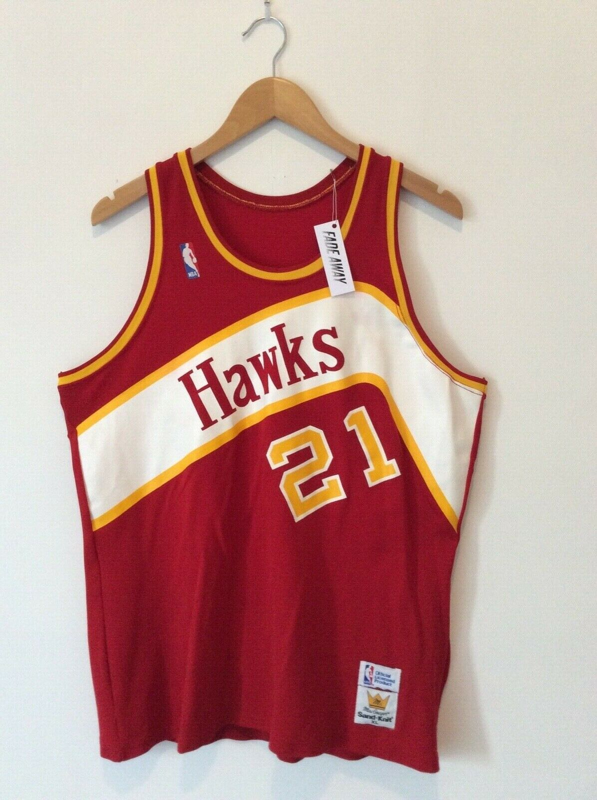 Vintage Dominique Wilkins Atlanta Hawks MacGregor Sandknit 1980s NBA Jersey.