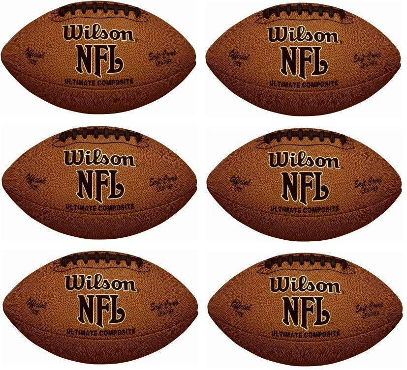 (6) ea Wilson WTF1845   F1845 Ultimate Composite Official Size Footballs