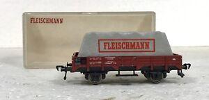 """FLEISCHMANN 5200 CARRO MERCI CON CARICO COPERTO CON TELONE """"FLEISCHMANN"""" DB H0 - Italia - FLEISCHMANN 5200 CARRO MERCI CON CARICO COPERTO CON TELONE """"FLEISCHMANN"""" DB H0 - Italia"""