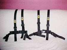 Ferrari Enzo Seat Belts_Four Point Safety Belt Harnesses Pair SET OEM