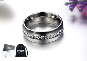 Anello-in-acciaio-con-incisione-Fede-Fedina-Fascia-Donna-Unisex-Acciaio-idea