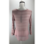 NWT-H-I-P-Women-039-s-Knit-Top-Sheer-Stripes-Long-Sleeve-Scoop-Neck-Blush thumbnail 3