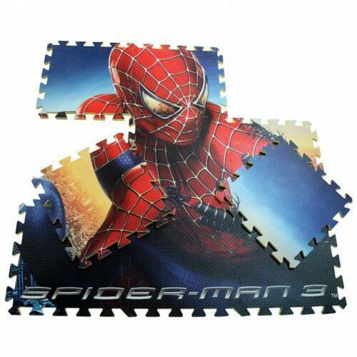 Spiderman EVA Foam Floor Puzzle Mat Kids Play Construct Building Blocks Floormat